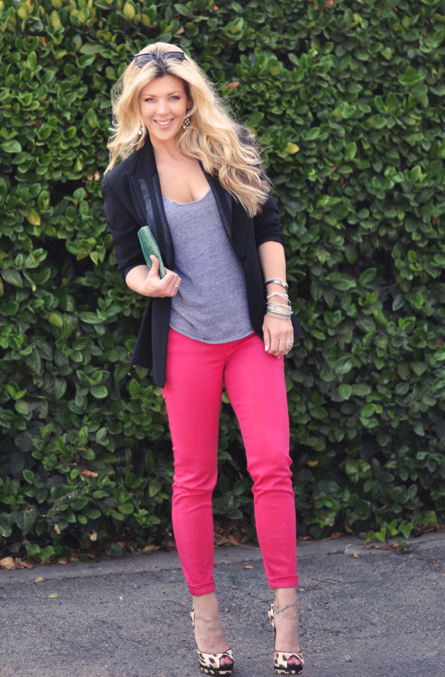 J Brand Shocking Pink Jeans  Fashionu0026#39;s Night Out ...