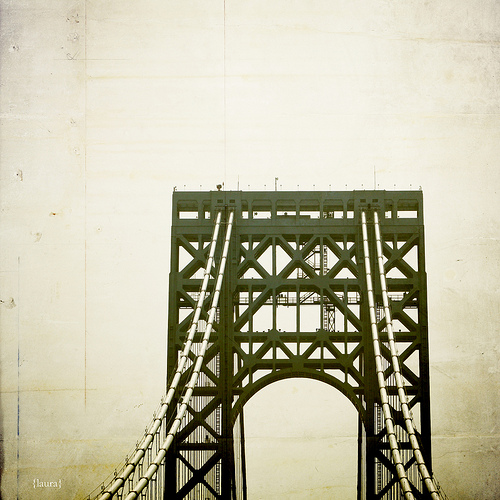 bridge usa ny newyork texture vintage manhattan jersey gwb georgewashingtonbridge nographics lauraruth