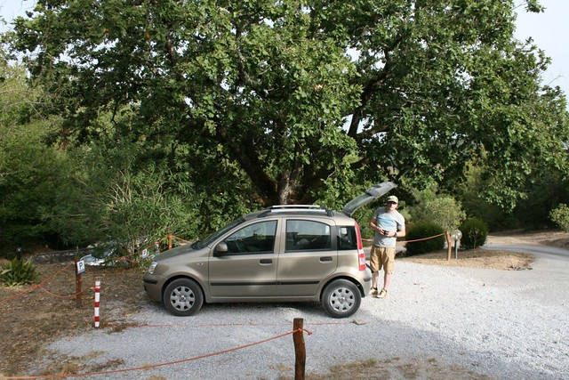 Glen and our hire car - Campo Di Carlo, Sassetta, Livorno province