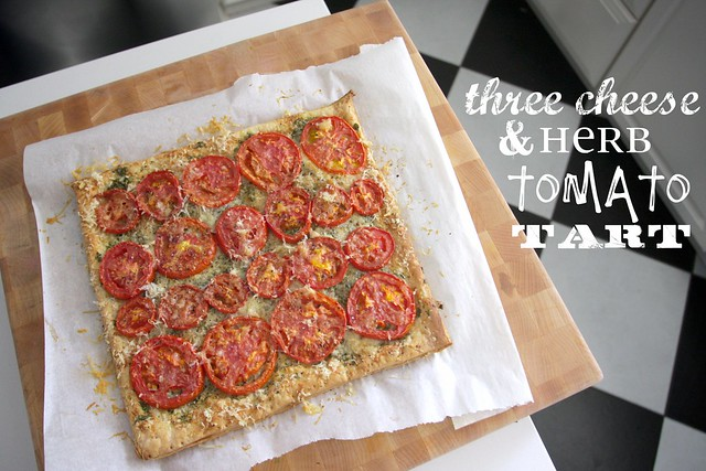 three cheese herb tomato tart | Flickr - Photo Sharing!