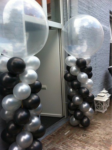 Ballonpilaar Breed Rond Yes Events Brielle