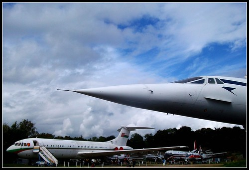 A familiar nose !    Concorde Brooklands 18/09/11.