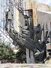 Communist era sculptures: '1300 Years Bulgaria' monument, Sofia, Bulgaria