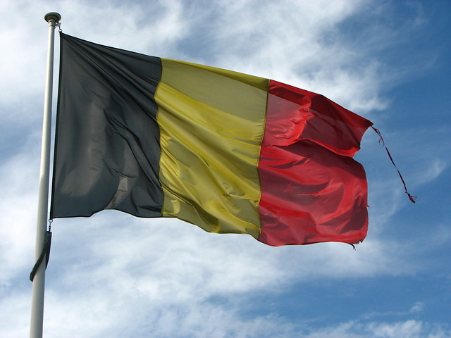 Old Frayed Belgian Flag