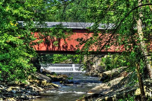 waterfall nikon coveredbridge hdr mcconnellsmill slipperyrockcreek d5000