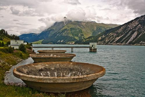 Reschensee - Überlauftrichter