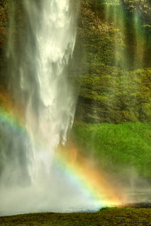 Rainbow & waterfall