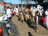 Shembe followers walking to the religious ceremony