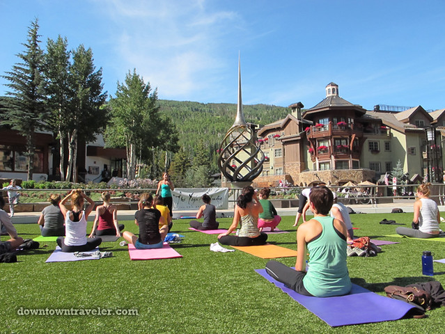Vail in Summer_Free Yoga in the Plaza