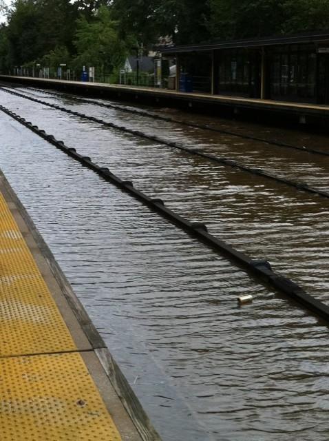 Tuckahoe Station tracks underwater