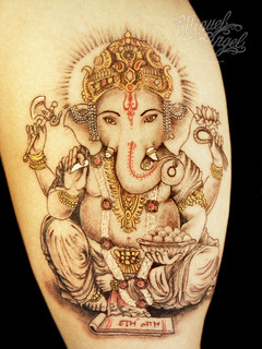Ganesh custom tattoo (5.5 inches)