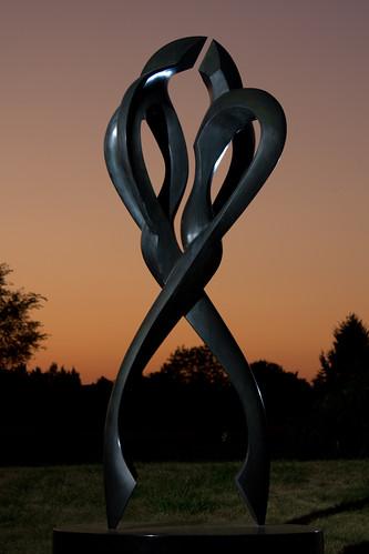 sunset sculpture illinois tango urbana champaign larryyoung strobist bc33