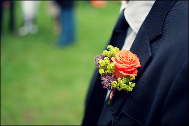 flower, suit, wedding