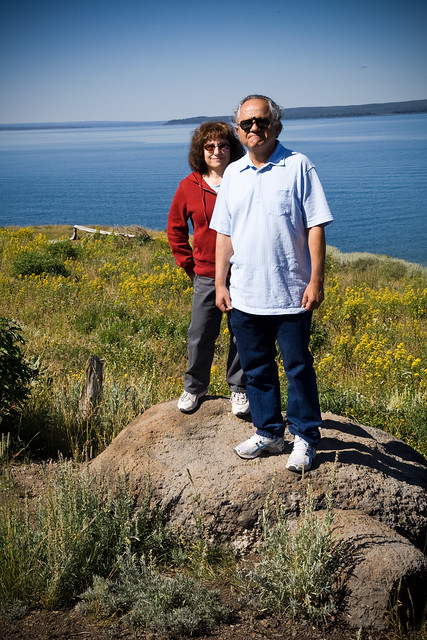 Parents by Yellowstone Lake