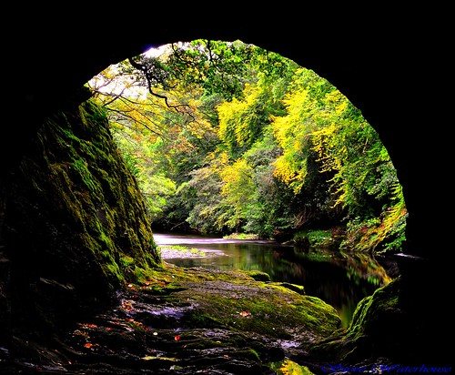 River  view through an archway,