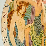 Eric Gill, Triton and Neptune ceiling medallion (mermaid detail), The Midland Hotel, Morecambe