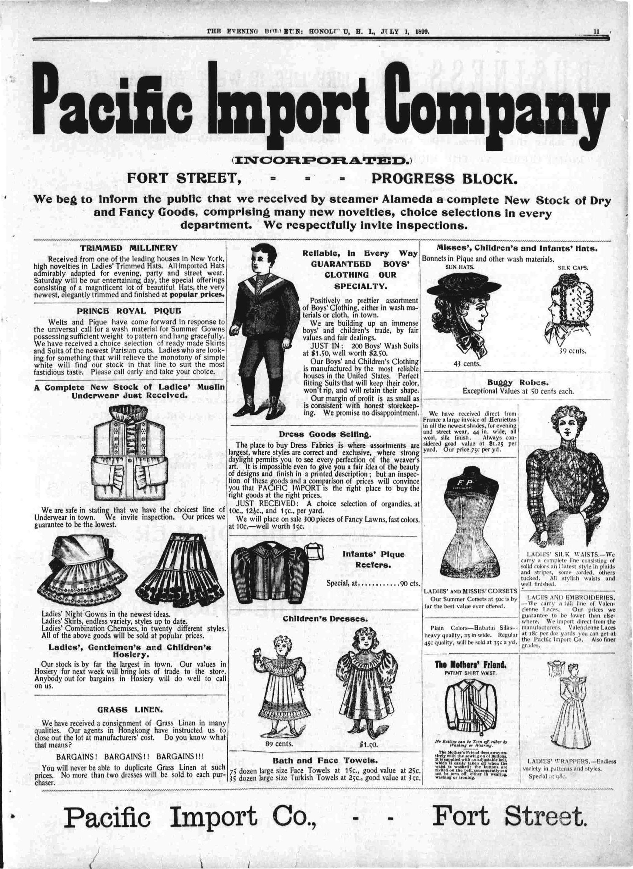 Fashion In Hawaii Newspaper Advertisements