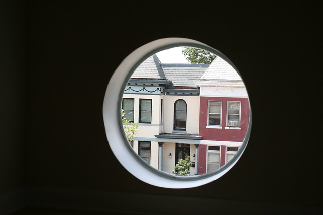 View from a circular window in 1873 3rd St NW