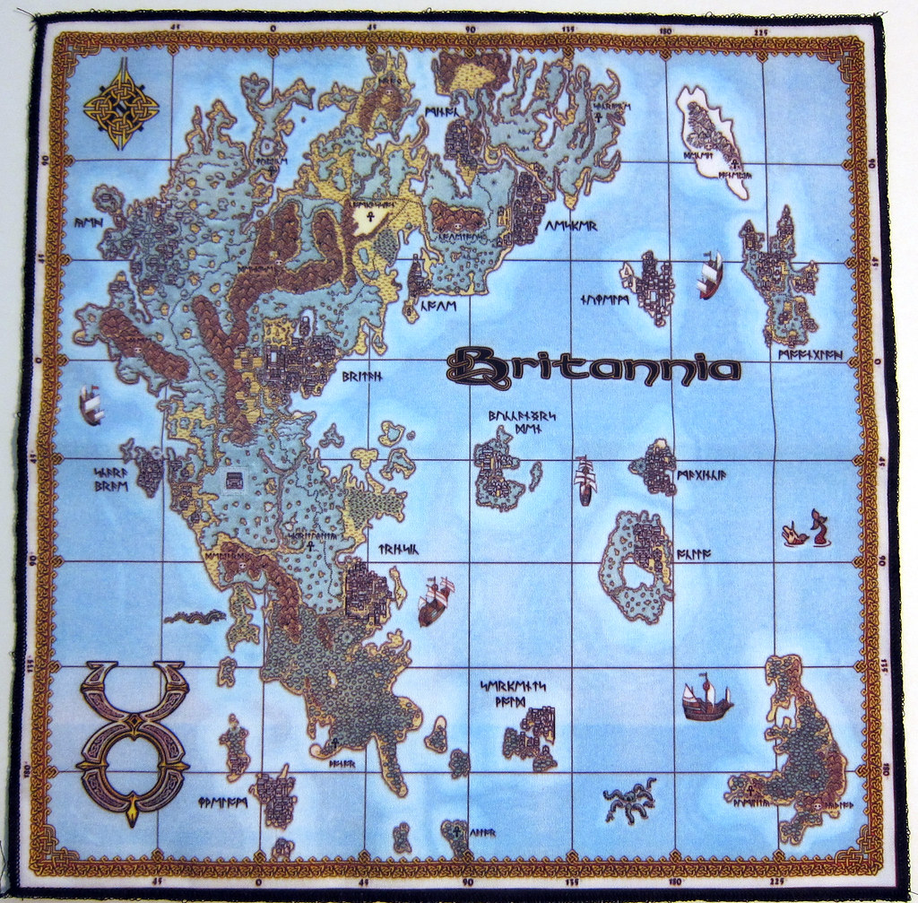 Ultima Online Charter Edition Cloth Map The Ever Ubiquit Flickr