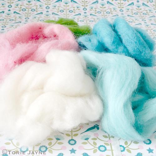 Winter Wonderland Needle Felting supplies