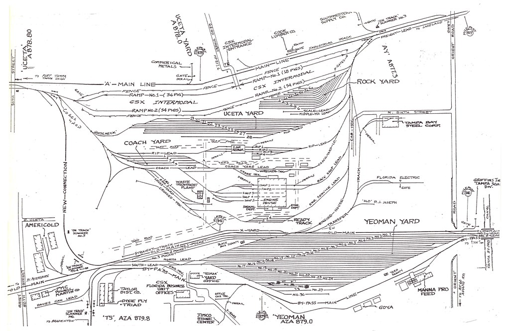 Detailed Plan Of The Csx Yards In East Tampa Uceta Yard Wa Flickr