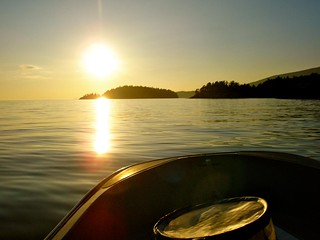 Pasley Islands sunset, July 2011