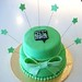 Green Cake with Bow