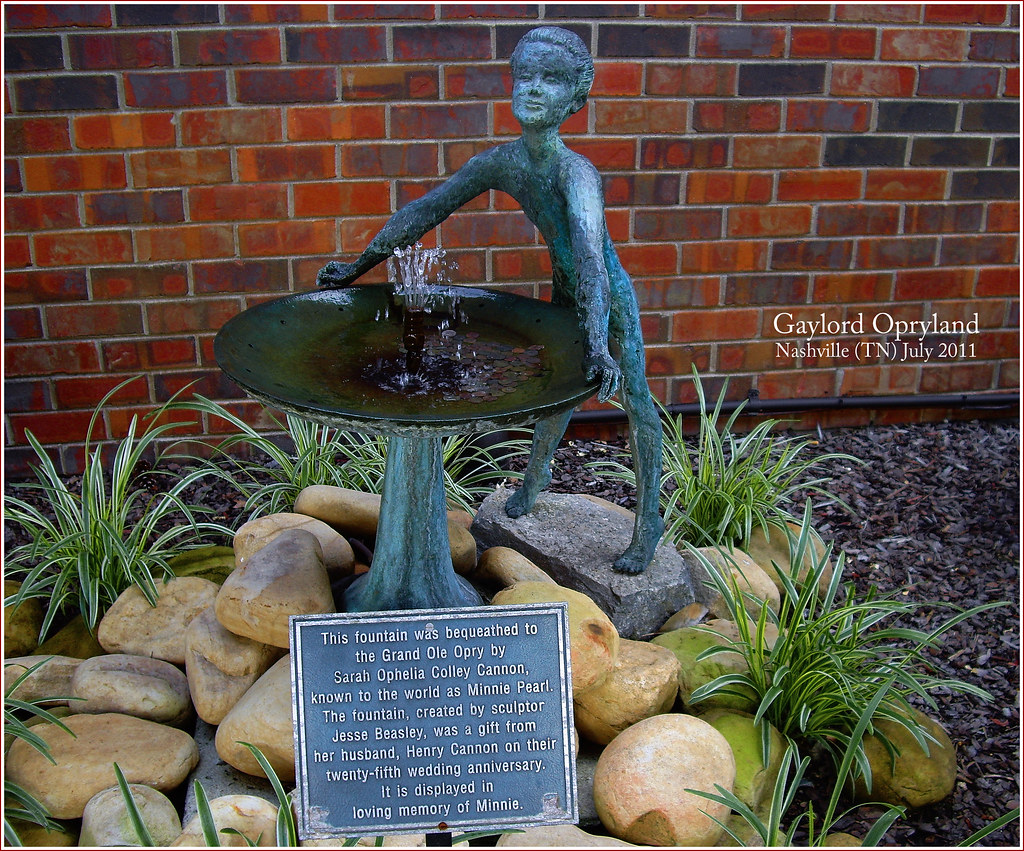 '... in loving memory of Minnie...' Gaylord Opryland Nashville (TN) July 2011