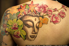 new tattoo   buddha on rachel's back