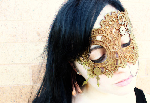 Steampunk Lace Mask
