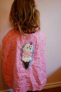 Ice-cream cape for Daisy's 3rd birthday — Ice Cream themed!