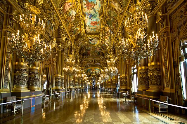 Grand Foyer Du Palais Garnier : Grand lobby of palais garnier foyer opéra