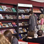 Browsing the graphic novels |