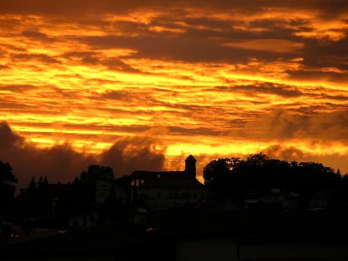sunset sky abend czech himmel wetter stimmung teplice večer letná obloha teplitz mygearandme škvárovník