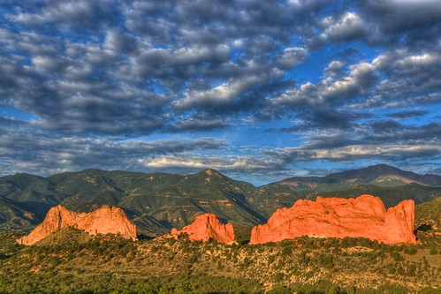 blue red sky mountain nature clouds sunrise landscape photo sandstone colorado rocks image picture gardenofthegods coloradosprings gateway rockymountains geology pikespeak facebook kissingcamels hogback