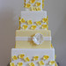 Pale Yellow Hydrangea Wedding Cake