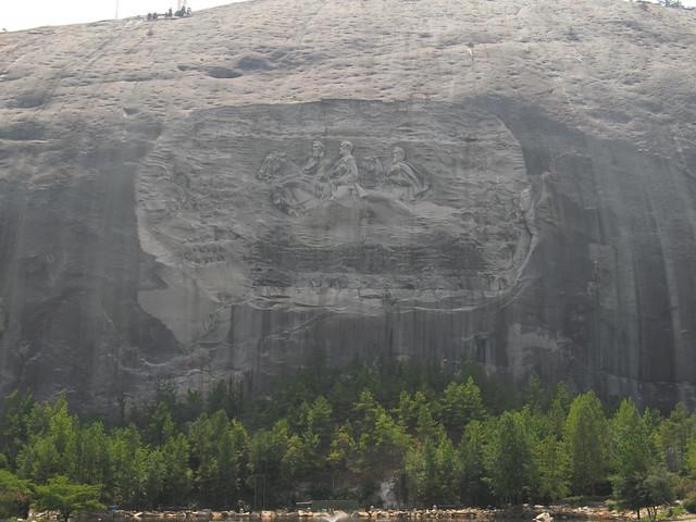 Elevation Of Stone Mountain : Confederate memorial carving stone mountain georgia