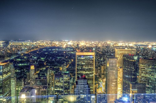 Central Park from the Top of the Rock HDR