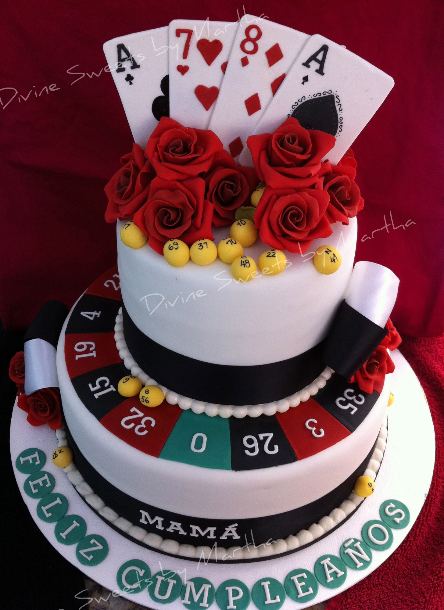 Casino cake decorating