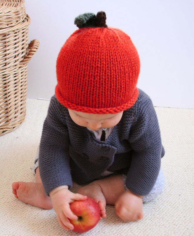 36f1c9b61b5 ... Apple Hand Knit Beanie