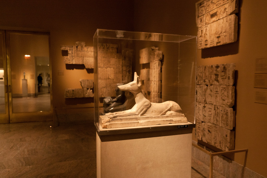 Recumbent Jackal God Anubis Dynasty 26-30 664-332 BCE  Limestone  The Metropolitan Museum allows photo shooting providing there is no financial gain.  Please respect their policy