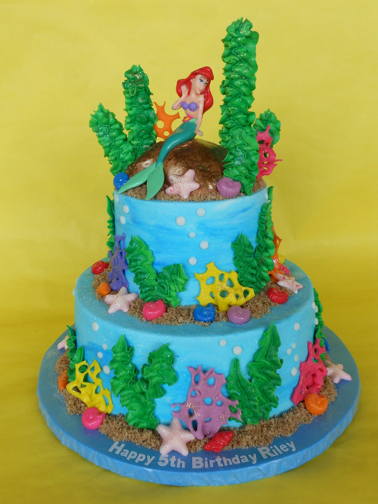 Ariel Under The Sea Birthday Cake A Photo On Flickriver