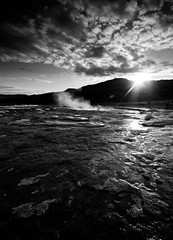 Last light on Geothermal Pools