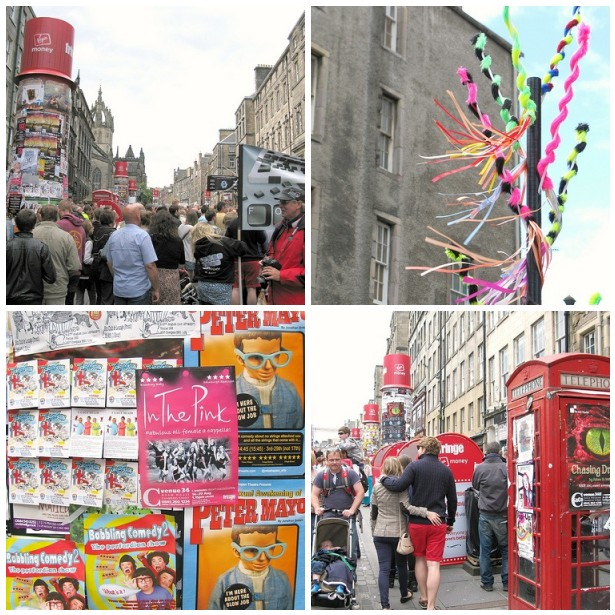 Colourful details and crowds of people on the Fringe. | Emma Lamb