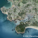 Arzon en 1970, France - Aerial view - IGN/PlanetObserver