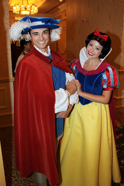 Snow White and The Prince greet us as we arrive