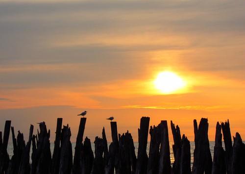 sunset šventoji lithuania