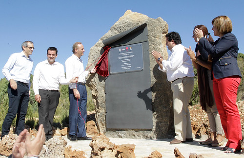 El President de la Generalitat, ha inaugurado el parque minero del Maestrat Culla-La Torre d'en Besora. 27/08/2011.