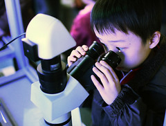 boy microscope