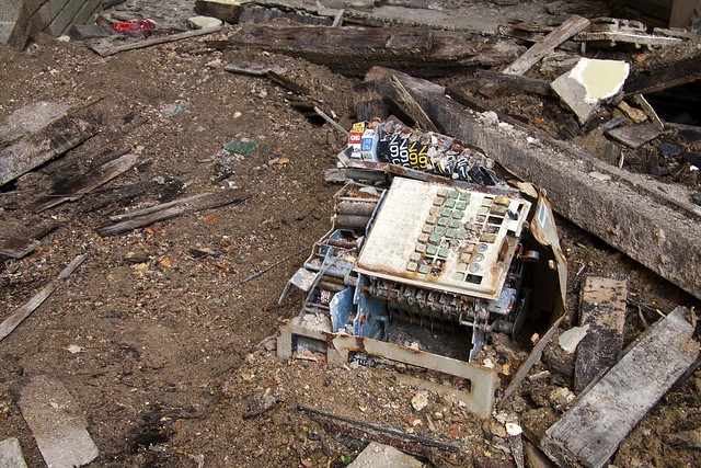 Hartwood Hospital cash register lies amongst the rubble